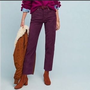 Levi's Wedgie Straight High Rise Corduroy Pant